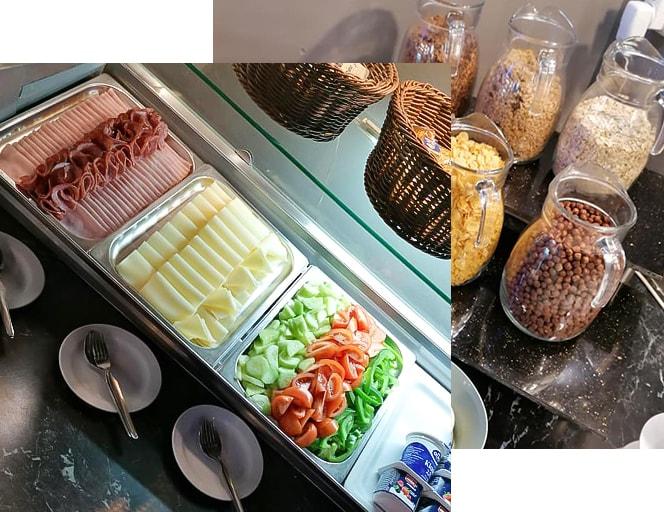Bufetové snídaně v hotelu a restauraci A-sport hotel Brno